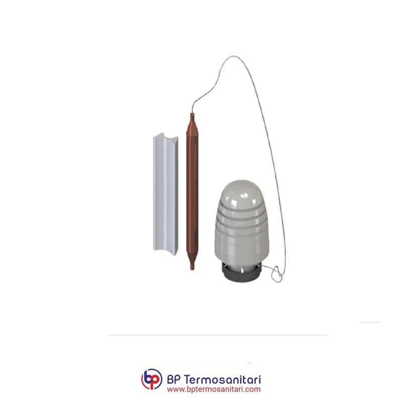Attuatore termostatico con sonda a capillare e regolazione a punto fisso per valvola miscelatrice MV3