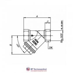 H.0400 Raccoglitore di impurità a «Y» BP TERMOSANITARI