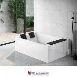 Vasche - Divina Dual - installazione centro parete - idromassaggio