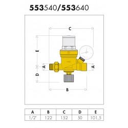 """553640 - Gruppo di riempimento 1/2"""" con manometro"""