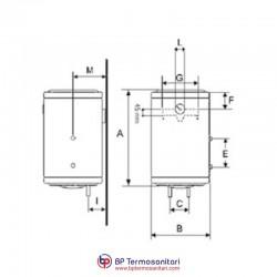 ST 50 Scaldabagno termoelettrico murale verticale