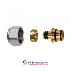6055 - Kit per tubi MULTISTRATO, con calotta cromata