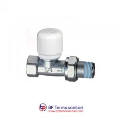 1640 - Valvola termostatizzabile diritta, attacco tubo ferro