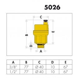 5026 - ROBOCAL® VALVOLA AUTOMATICA DI SFOGO ARIA - CALEFFI - BP TERMOSNITARI