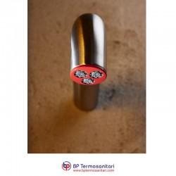TUBO - SOFFIONE A PARETE ACCIAIO INOX