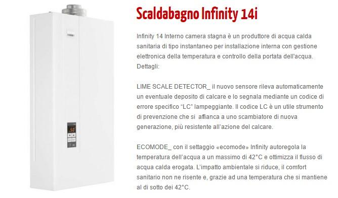 Scaldabagni A Gas Gamma Domestica Scaldabagno Infinity 14i
